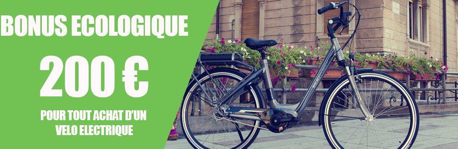 Bonus écologique pour l'achat d'un vélo électrique
