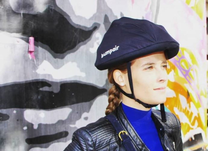 Bumpair, un casque gonflable pour les trottinettes électriques