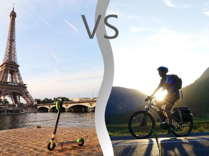 Trottinette électrique Vs vélo électrique : le match