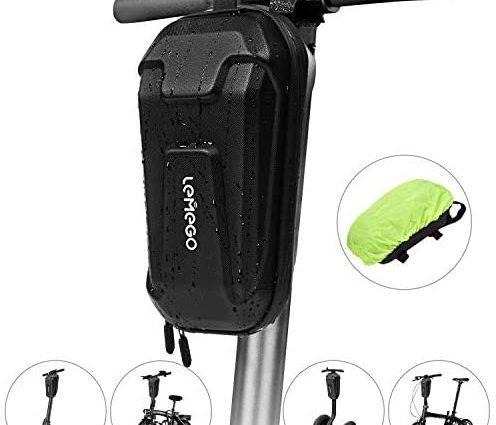 LEMEGO Sacoche Trottinette Electrique, Support Etanche Guidon Trotinette Scooter Vélo Electrique Grande Capacité 2,2L Housse de Pluie Sac de Rangement pour Xiaomi M365 Segway Ninebot ES1/2/3/4