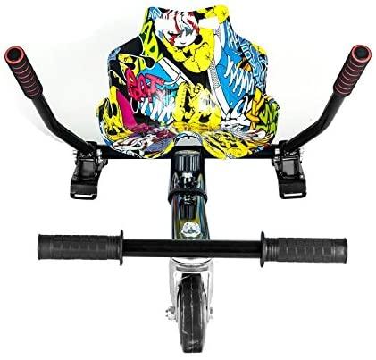 SMARTGYRO GO Pro Street Selle adaptative, transformez Votre Patin électrique en Kart, Mixte Enfant, Taille
