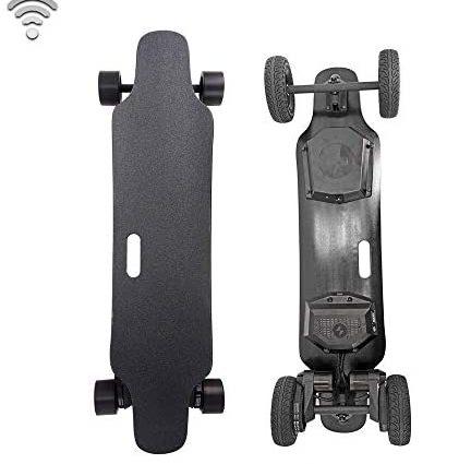 YH-Scooter Skate Electrique, électrique Longboard Skateboard électrique Tout-Terrain télécommandé, 8800mAh de Grande autonomie, 22 km, la Vitesse maximale Peut Atteindre 35 km/h.