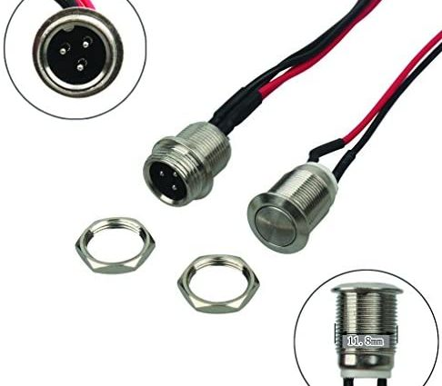 Kit de câble de rechange pour ports de charge et Bouton d'alimentation pour hoverboards électriques