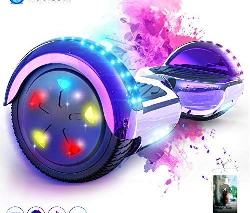 MARKBOARD Overboard 6.5 Pouces Bluetooth, Gyropode Hover Scooter Board avec Roues Flash LED, E-Scooter Auto-équilibrage électrique Skateboard