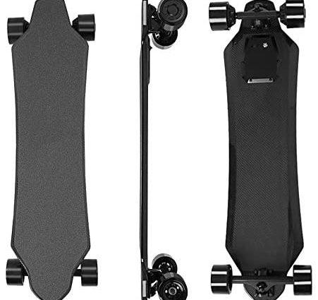 YH-Scooter Skate Electrique, électrique Longboard Planche à roulettes électrique télécommandée Monobloc de 36 V, Vitesse maximale pouvant Atteindre 40 km/h, Le Cadeau de Vacances