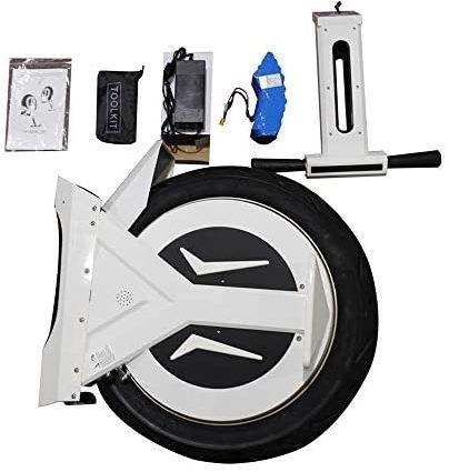 """GJZhuan Électrique Monocycle, 17"""" 60V / 500W, Scooter Électrique, avec Haut-Parleur Bluetooth 90 Km, E-Scooter, Gyroroue Unisexe Adulte, Blanc"""