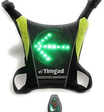 Timgad Gilet LED réfléchissant et Clignotant de sécurité très Lumineux pour Le vélo, Trottinette électrique, Deux Roues, Hoverboard, gyro-Roue, Jogging, Running, Roller, Skate, Course à Pied