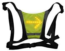 Ornii - Gilet Jaune - Dossard Clignotant LED Réfléchissant - Sécurité pour Vélo, Trottinette Electrique, Skateboard, Gyroroue, Running - 5 Modes de Signalisation - Autonomie 15 Heures
