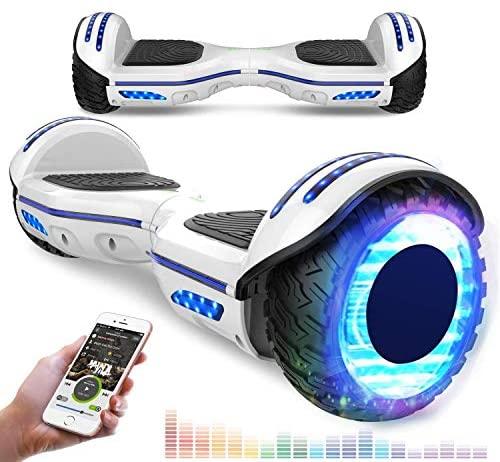 """RCB Overboard 6,5"""" et Scooter Electrique Auto-équilibré avec LED Gyropode Intelligent avec Bluetooth Moteur Puissant 2*350W pour Enfants und Adultes"""