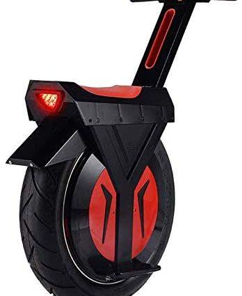 """XYDDC Électrique monocycle Noir, E-Scooter Monocycle Scooter avec Bluetooth Haut-Parleur, Gyroroue Unisexe Adulte, 17"""" 60V / 500W, 90KM"""