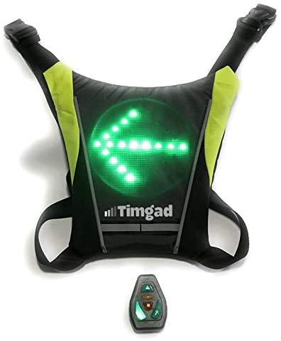Gilet Clignotant LED de sécurité réfléchissant très Lumineux pour Le vélo, Trottinette électrique, Deux Roues, Hoverboard, gyro-Roue, Jogging, Running, Roller, Skate, Course à Pied, Marche à Pied