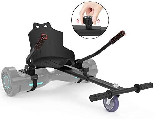 Leogreen Chaise Kart Seat pour électrique Scooter, Hoverboard go Kart Compatible pour Les balances de 6,5 à 10 Pouces Longueur réglable