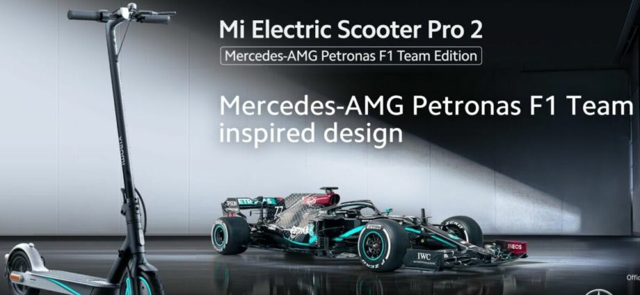 La trottinette électrique Xiaomi édition Mercedes-AMG Petronas F1 Team disponible en précommande