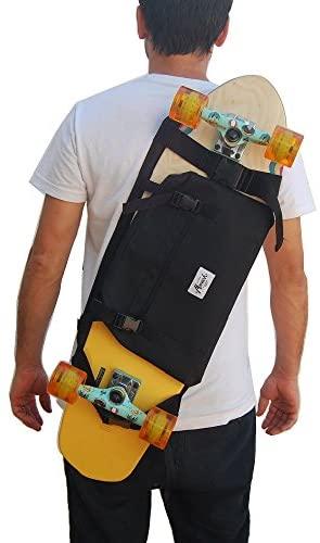 Sac à Dos pour Donner Le Longboard, Surf Skate ou Skateboard Complet, idée de Cadeau Saint Valentin. Couleur Noir