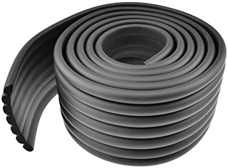 FiveSeasonStuff Polyvalente 2 Mètre Rouleau en Mousse Anti Choc Protecteurs Bords de Coins de Murs (Noir)