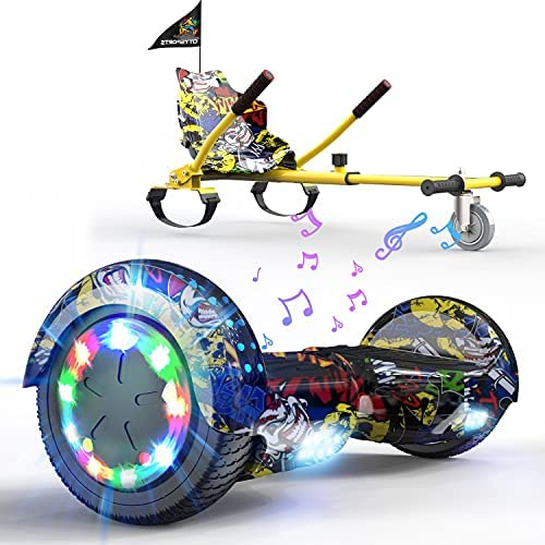 SOUTHERN-WOLF Hoverboard Gyropode électrique Hoverboard Kart Overboard Bluetooth 6.5 Hoverboard Enfant Self-Balance Board avec Roues LED Flash