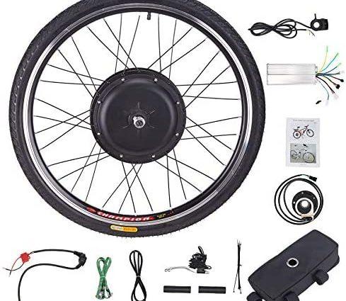 """Z ZELUS Roue Électrique 26"""" 66 cm pour Vélos, Roue avec Moyeu Moteur pour E-Bike, Kit de Conversion"""