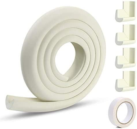 Vicloon Protection des Bords et Coins de Meubles,2 Mètres Protection Mousse Sécurité avec 4 Angles, Kit de Sécurité pour bien Protéger les Enfants
